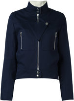 Courreges zipped jacket - women - Cotton - 36