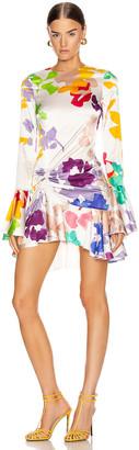 Caroline Constas Monique Mini Dress in White Multi | FWRD