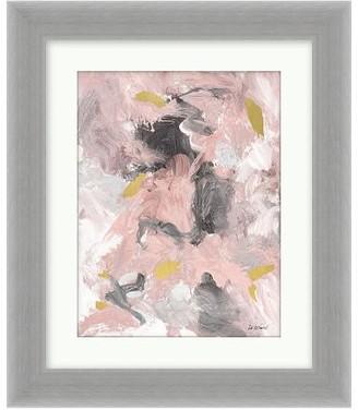 Pottery Barn Pink Grey Gold Canvas Print