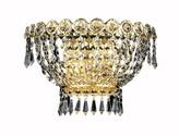 Swarovski Lorna 1-Light Flush Mount Rosdorf Park Finish: Gold, Crystal Trim: Strass