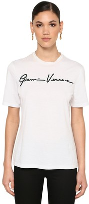 Versace Signature Logo Cotton Jersey T-shirt