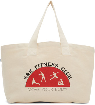 Sporty and Rich Beige Fitness Club Tote