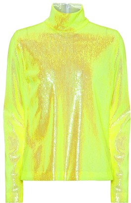 MM6 MAISON MARGIELA Sequined high-neck top