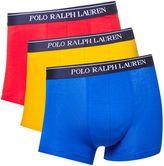 Polo Ralph Lauren Three Pack Stretch Contrast Waistband Trunk