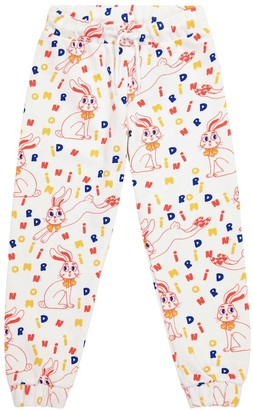 Mini Rodini Rabbit printed cotton trackpants