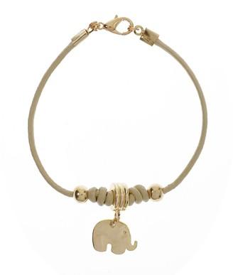 Kith&Kin Leather Elephant Bracelet