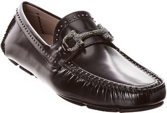 Salvatore Ferragamo Parigistu Gancini Studded Leather Loafer
