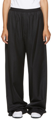 Balenciaga Black Pinstriped Elastic Waist Trousers