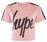 Hype **Dusty Pink Taping Crop T-Shirt