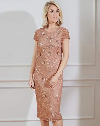 Nightingales 3D Embellished Rose Dress