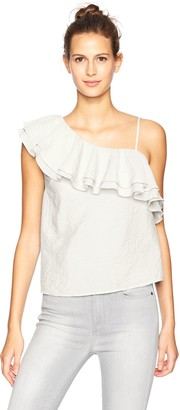 Blu Pepper Women's Asymetrical One Shoulder Top