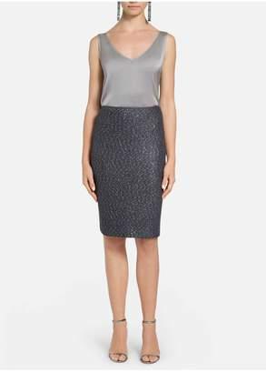 St. John Iridescent Sequin Knit Pencil Skirt