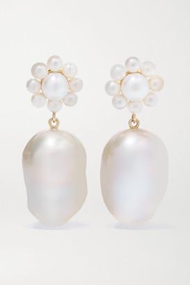Sophie Bille Brahe Margherita Venus 14-karat Gold Pearl Earrings - one size