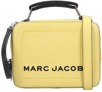 Marc Jacobs The Box 20 Shoulder Bag In Yellow Leather