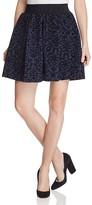 Vero Moda Cary Velvet Flocked Skater Skirt