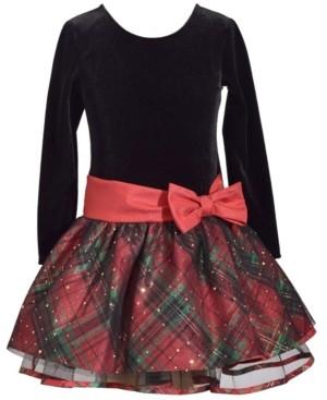 Bonnie Jean Little Girls Traditional Sparkle Overlay Dress