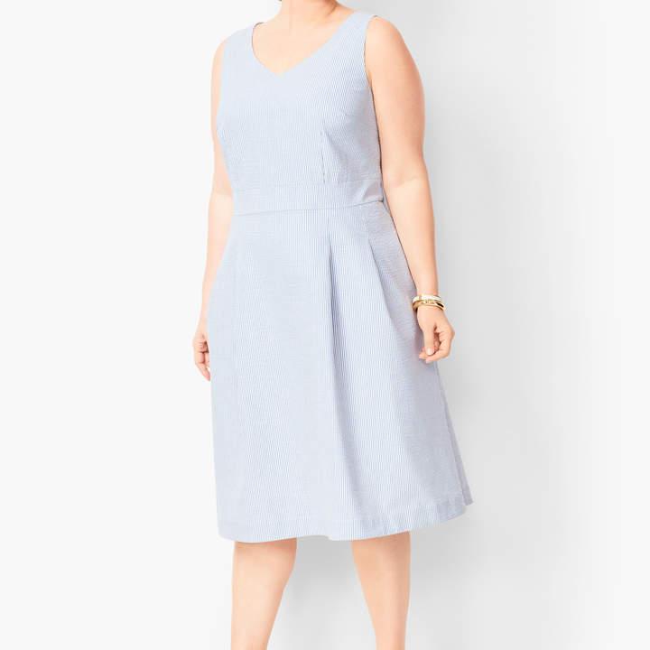 b5d2c3f1f57 Blue Seersucker Dress - ShopStyle