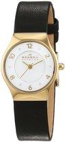Skagen skw2209 24mm Stainless Steel Case Black Calfskin Mineral Women's Watch