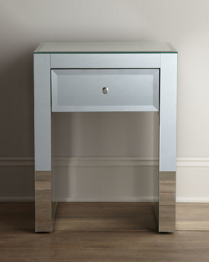 """Horchow """"Kacie"""" Mirrored Table"""
