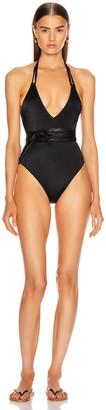 Solid & Striped Lou Swimsuit in Matte Black | FWRD