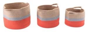 ZUO Ilesa Baskets with Handles, Set of 3