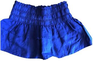 Etoile Isabel Marant Blue Linen Skirt for Women
