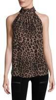 Joie Erola Leopard Silk Blouse