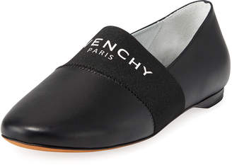 Givenchy Bedford Logo Leather Smoking Slipper Flat