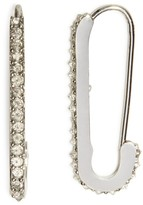Rebecca Minkoff Mini Pavé Safety Pin Drop Earrings