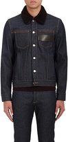 Givenchy Men's Shearling-Collar Denim Jacket