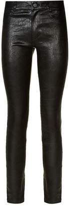 Paige Hoxton High-Waist Stretch Leather Jeans