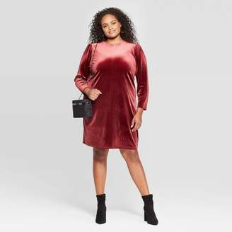 A New Day Women's Plus Size Long Sleeve Crewneck At Knee Sheath dress