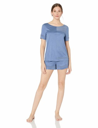 Hanro Women's Enna Sleeve Short Pajama Set