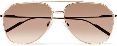 Dolce & Gabbana 飞行员式镀玫瑰金镜面太阳镜