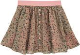 Twin-Set Printed crepe skirt