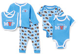 Sweet & Soft Boys' Infant Bodysuits Blue - Blue 'Daddy's MVP' Cardigan Set - Newborn & Infant