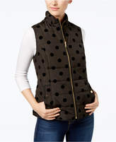 Charter Club Petite Flocked-Dot Vest, Created for Macy's