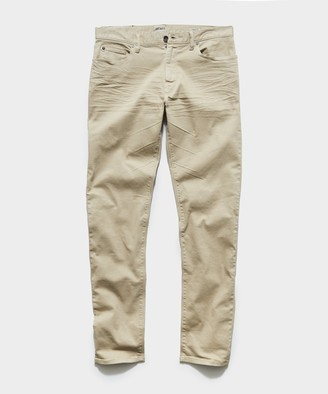 Todd Snyder Straight Fit 5-Pocket Chino In Casual Khaki