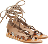 K. Jacques Leather Lace-Up Sandals