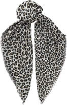 Jimmy Choo LUO Black and Camel Printed Shawl