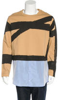 Carven Underlay Cropped Sweatshirt w/ Tags