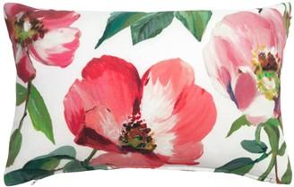 Wallace Cotton Rose Anna Rectangle Cushion Pink