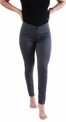 eyes Skinny School Everyday Teens Trousers Women Skinny Tight fit Navy Black Grey Office Work Day Stretchy Trousers (6 Short