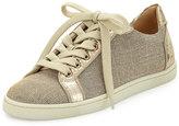 Christian Louboutin Seava Woven Low-Top Sneaker, Gold