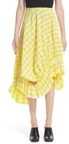 Marques Almeida Women's Marques'Almeida Asymmetrical Frilled Gingham Skirt