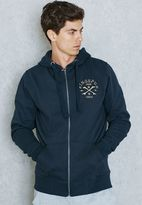 Ringspun Ratchet Zip Through Hoodie