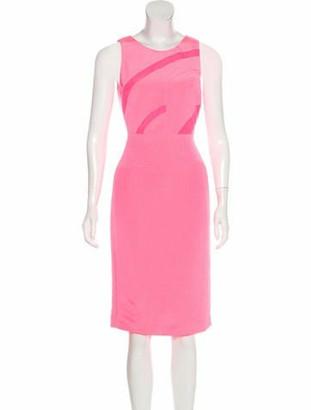 Narciso Rodriguez Sheer Midi Dress w/ Tags pink