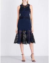 Jonathan Simkhai Floral-lace and crepe midi dress