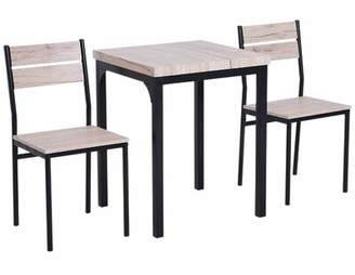 Gracie Oaks Staley Rustic Country 3 Piece Dining Set Gracie Oaks