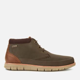 Barbour Men's Nelson Nubuck 3-Eye Chukka Boots - Brown